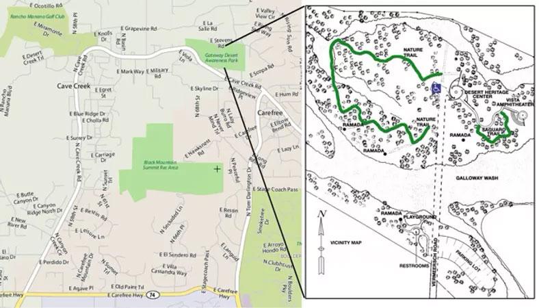 Desert Awareness Park Location Map